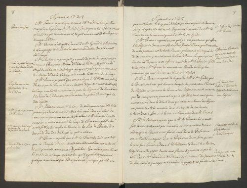 Extrait du Registre de la Compagnie des Pasteurs pour 1724 – Archives d'Etat de Genève