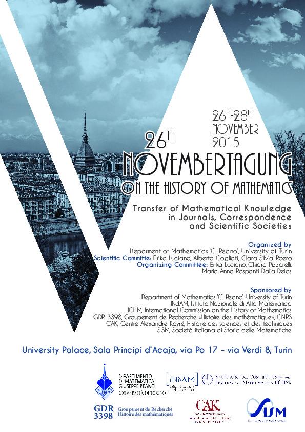 Affiche Novembertagung Turin 2015