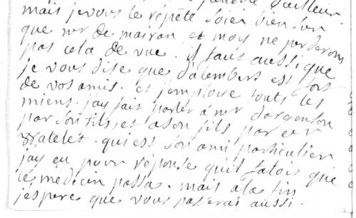 Lettre de madame Geoffrin à Cramer, 26 juin 1750, BnF Mss NAF 23240.