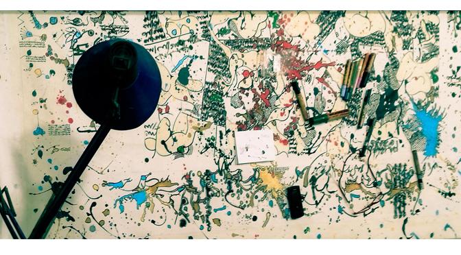 """Tâche dé-scripte – Autour de l'exposition de Imed Jemaiel, """"Maculée conception"""" (2016)"""