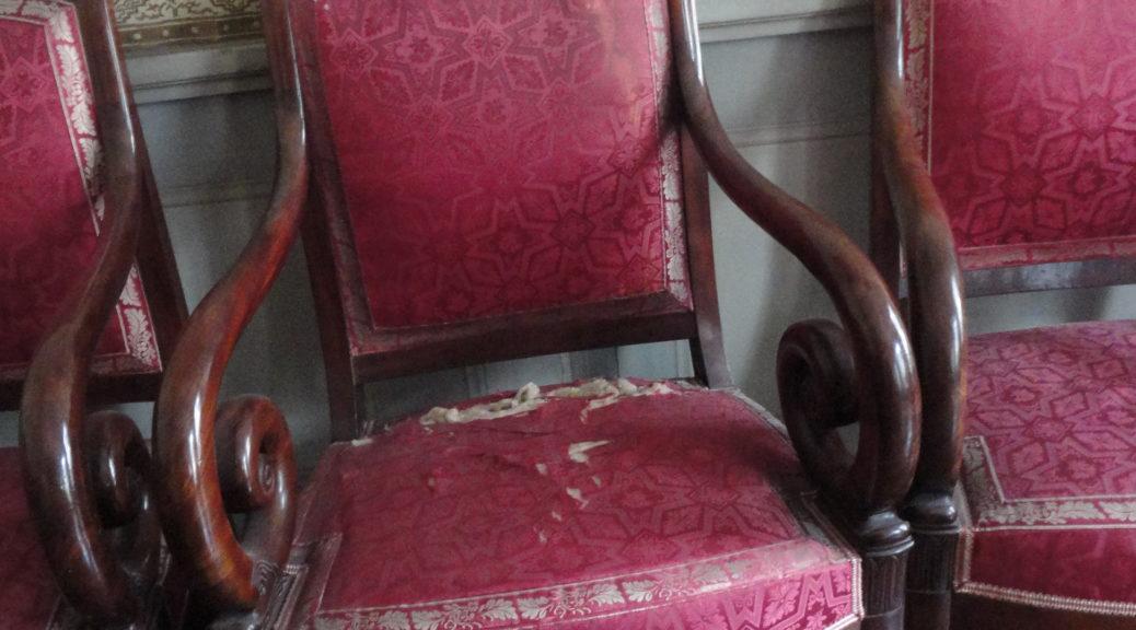 photo historique femme nue objets erotiques courtisanes chaise à bascule