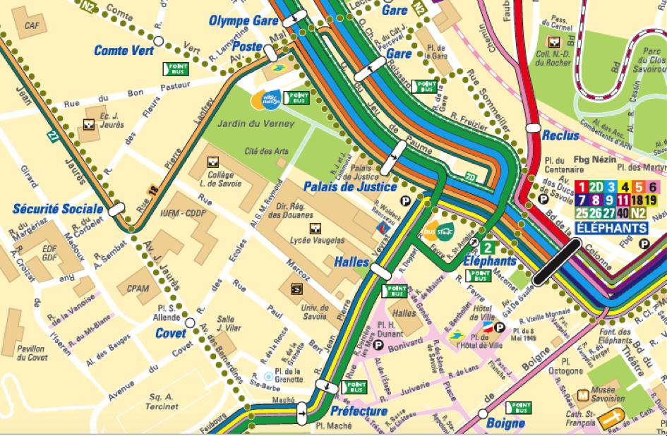 plan qu Chambéry