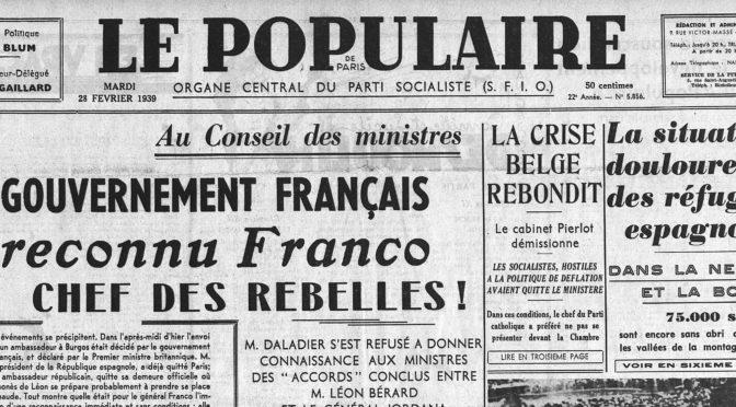 Appel à communication : LE FRANQUISME, SON IMAGE ET SES POLITIQUES D'INFLUENCE EN FRANCE (1936-1975)
