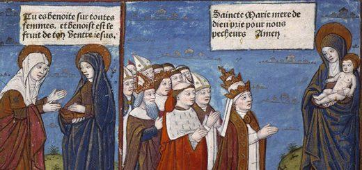 La Chrétienté priant la Vierge à l'Enfant. 1493. Angers, BM, SA 3390, f. 039