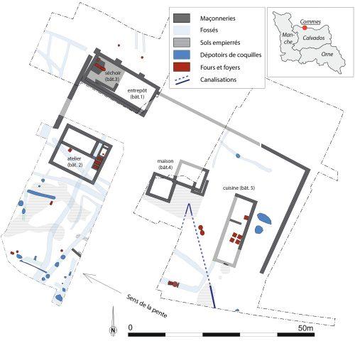 Fig.2 : Plan général des vestiges antiques de Commes «le Dessous des Cotis»