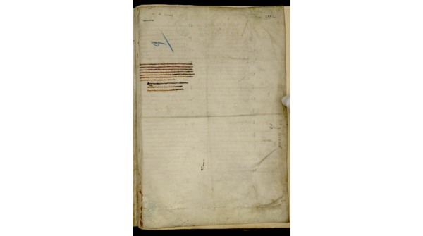 Avranches, ms 98, f. 228r. Marques de pliures