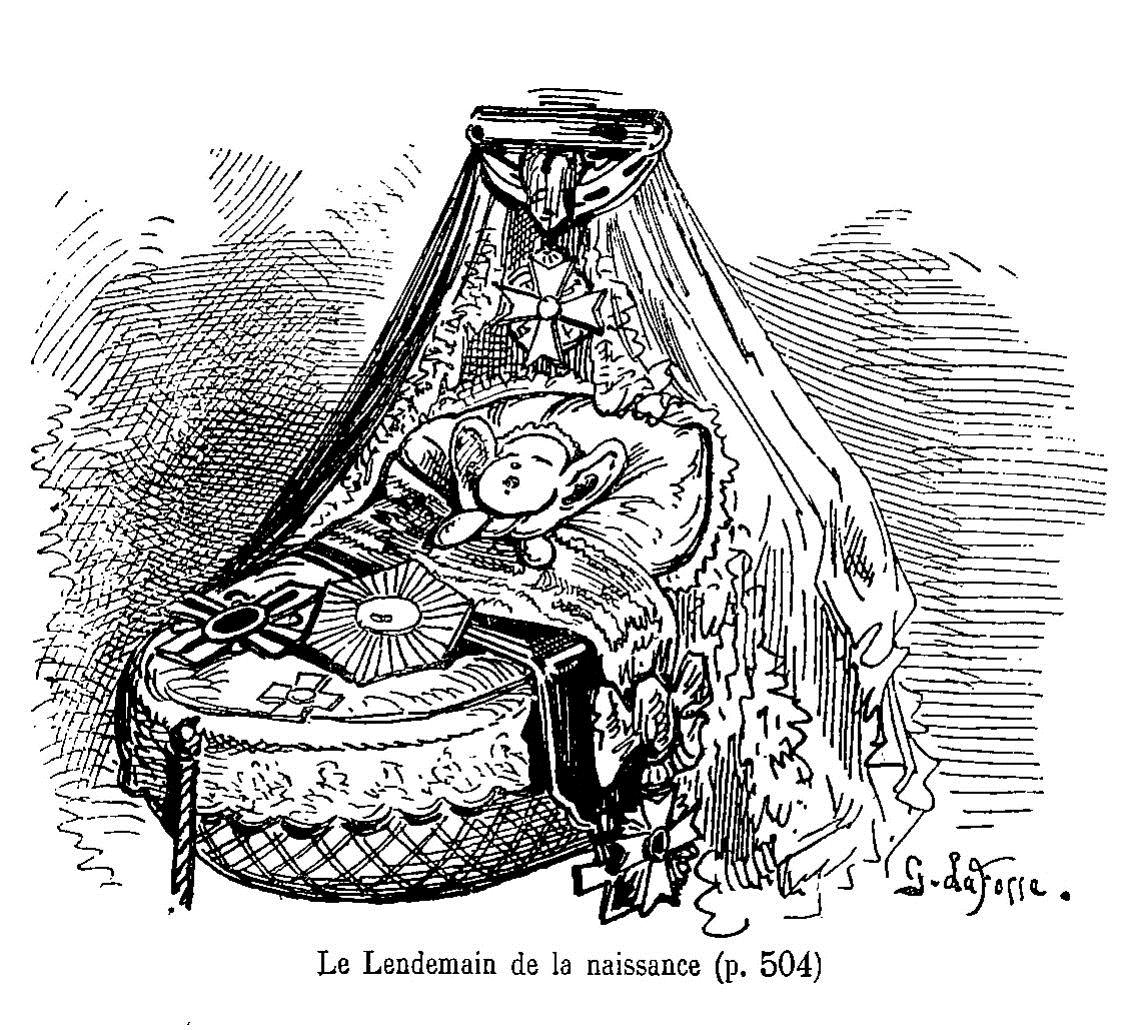 Image extraite de Touchatout, Histoire tintamarresque de Napoléon III, Paris, 1877. BnF, Département Philosophie, histoire, sciences de l'homme