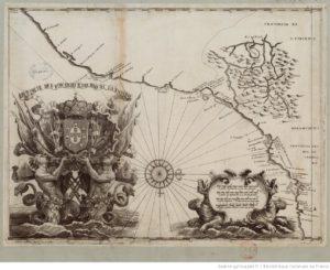 Carta delle province di San Vincenzo e del Rio de Janeiro