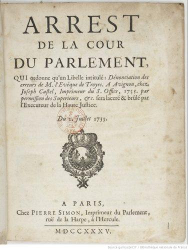 Arrêt de la Cour du Parlement