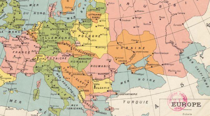 CYCLE DE CONFÉRENCES – NAISSANCE D'UN NOUVEAU MONDE : L'EUROPE CENTRALE ET ORIENTALE (1918-1939)