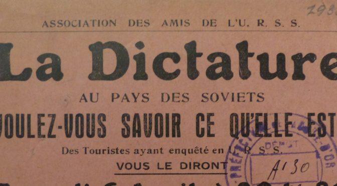 André Gide et le tourisme en Union Soviétique