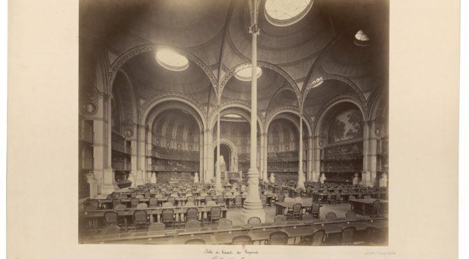 Bourse de recherche pour l'histoire de la Bibliothèque nationale de France : appel à chercheurs 2020-2021