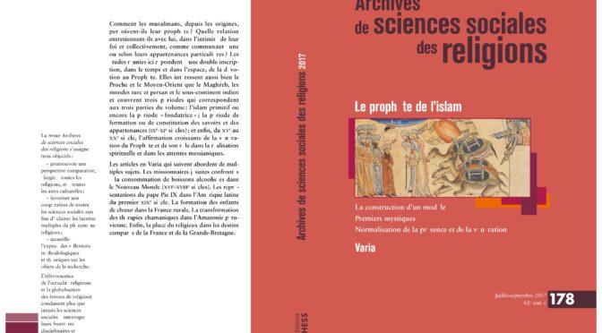 Nouvelle publication : Le prophète de l'islam