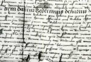 1475. document, defines the process of church tithe conscription