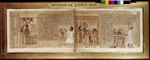 Papyrus mythologique de Seramon, Egypte, XXIe dynastie (ca. XI-Xe s. av. J.-C.) - Département des Monnaies, médailles et antiques inv.53.1