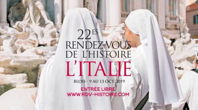 L'Italie et l'Antiquité@la BnF: Les Rendez-vous de l'Histoire de Blois 2019