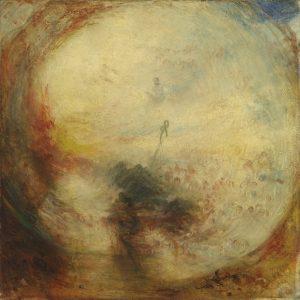 William Turner, Lumière et couleur (théorie de Goethe) – le matin après le Déluge, Moïse écrivant le Livre de la Genèse, exposé en 1843, huile sur toile, 78,7 x 78,7 cm, Tate. Accepté par la nation dans le cadre du legs Turner en 1856 © Tate, Londres 2015