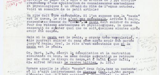 Fig. – 6. Lettre dactylographiée de Georges Devereux à Georges Dumézil, datée du 6 août 1970.