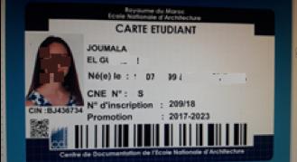 Carte de lecteur/étudiant EA Rabat