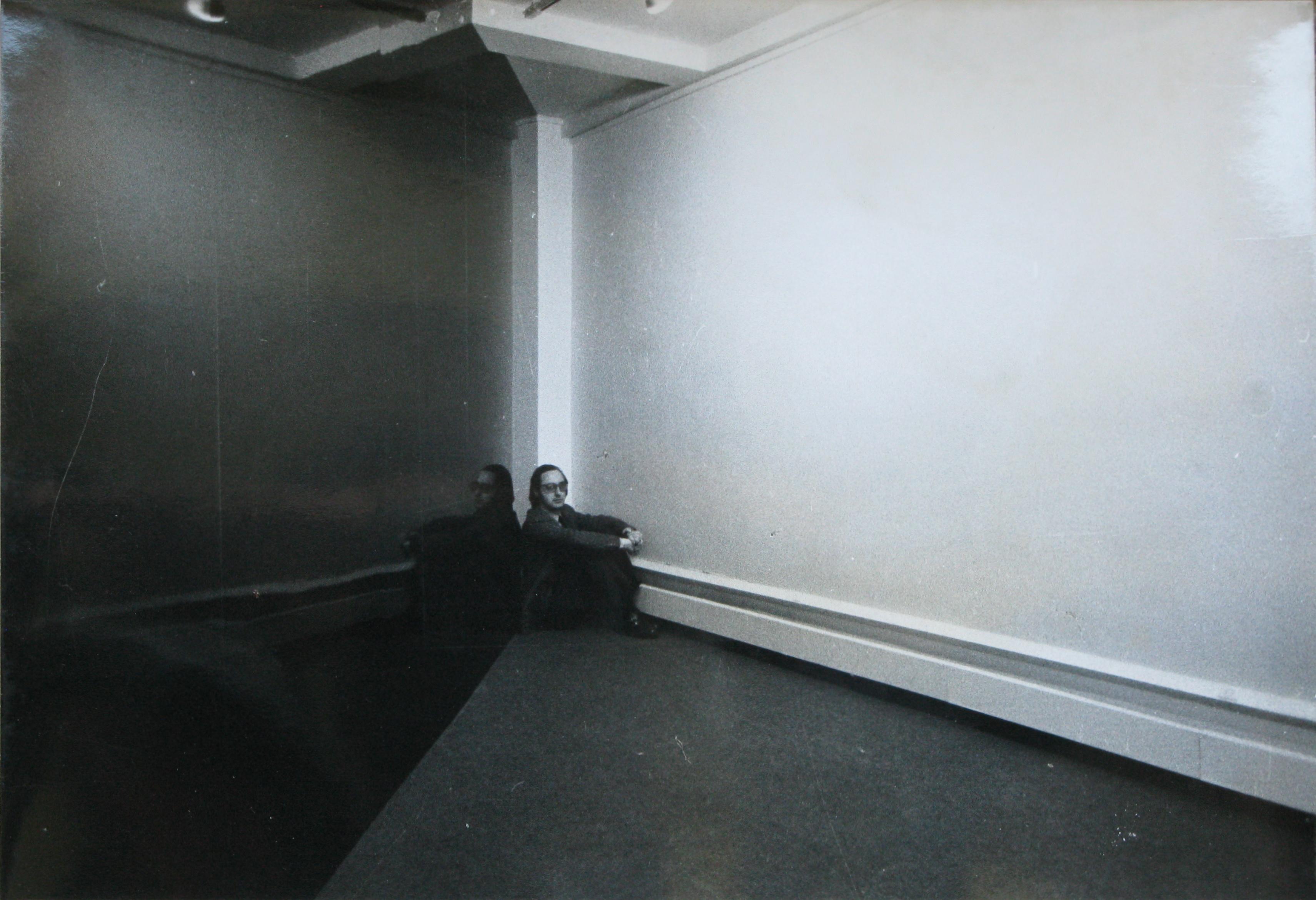 Jean-Michel Sanejouand dans l'Organisation d'espaces n°2, Galerie Yvon Lambert, 1967