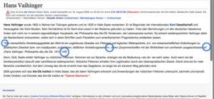 hans vaihinger wikipedia article august 2005