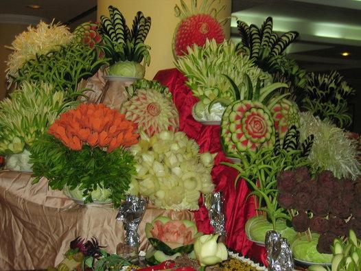 decoracion con fruta