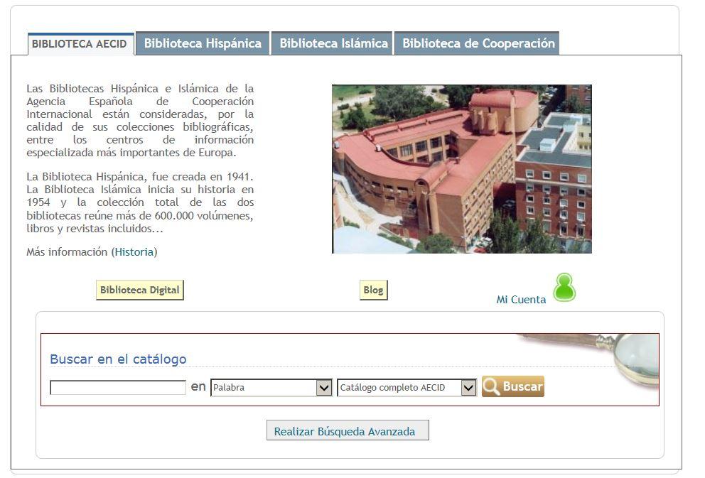 Catalogo Biblioteca AECID