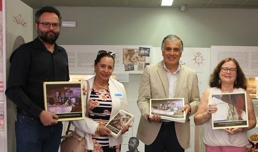 Víctor Orlduna, Pilar Pedraza, Ramiro Tapia y Araceli García. Foto: Embajada de Bolivia
