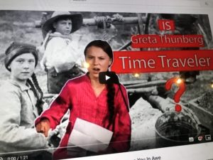 Greta Thunberg Zeitreisend