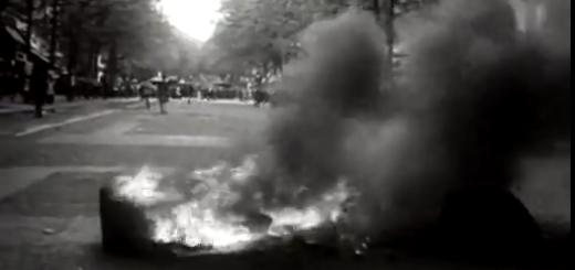 La révolte étudiante au quartier latin en mai 1968