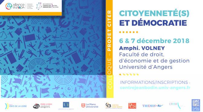 """Compte rendu du colloque """"citoyenneté(s) et démocratie"""""""