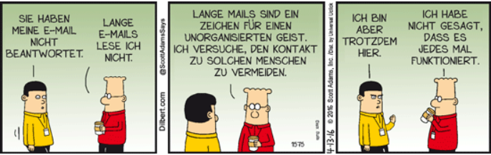 Dilbert Cartoon vom 13.4.2016, www.ingenieur.de