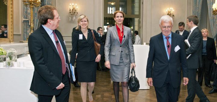 Paul Hofheinz, Ann Mettler, Helle Thorning-Schmidt and Paul Demaret, Lisbon, Portugal, June 27, 2012 | © Courtesy of Lisbon Council/Flickr.