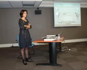 Raphaelle Bourrillon soutenant sa thèse de doctorat à l'Univeristé de Toulouse II le Mirail