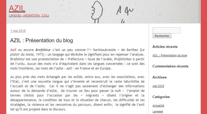 AZIL : Langues, migration, exil. Ouverture du blog