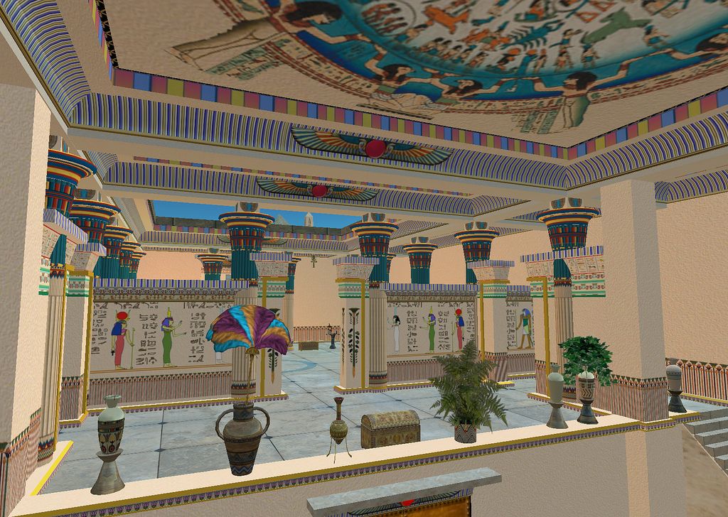 Immersive Archeology - Aura Lily breathes life into the architecture and culture of Ancient Egypt, Second Life, July 28, 2006 © Courtesy of John Lester/Flickr.