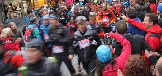 Runners departing through Chamonix for the start of the 2012 North Face Ultra Trail du Mont Blanc, Chamonix-Mont-Blanc, Rhône-Alpes, France, August 31, 2012   © Courtesy of Richard Allaway/Flickr.