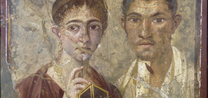 Détail de la fresque pompéienne du boulanger Terentius Neo et son épouse