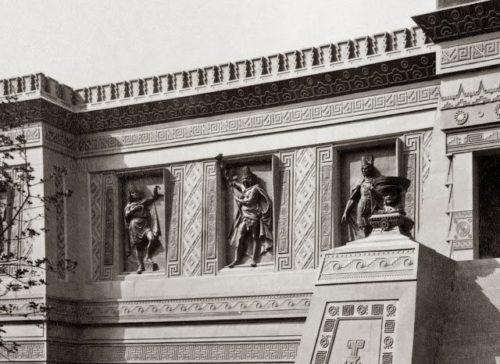 Pavillon mexicain, Exposition universelle de Paris 1889, reliefs de Fructuoso Contreras