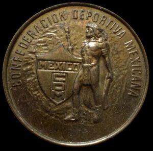 Avers de la médaille Confederación Deportiva Mexicana