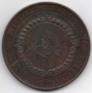 Revers Medalla de honor a los expositores mexicanos