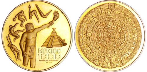 Mexico 1968 de la Central de Numismática