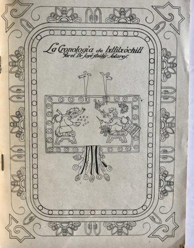 La Cronología de Ixtlilxóchitl : page de titre