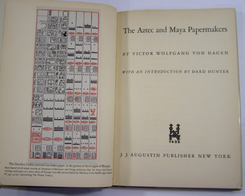 The Aztec and Maya papermakers : page de titre