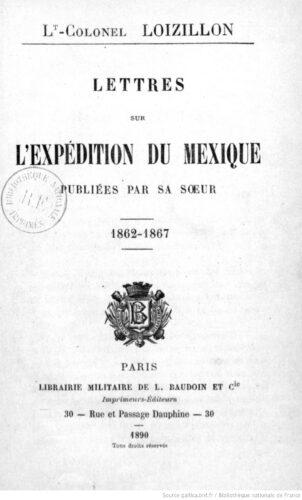 Lettres sur l'expédition du Mexique