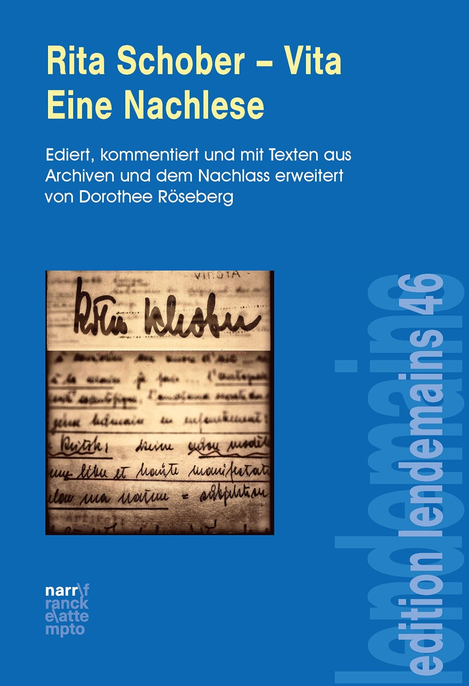 Compte rendu de lecture : Rita Schober Vita – Eine Nachlese