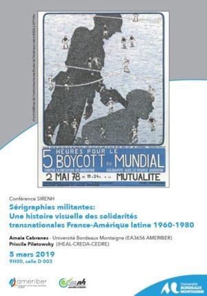 Sérigraphies militantes: Une histoire visuelle des solidarités transnationales France-Amérique latine 1960-1980
