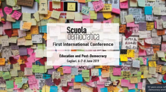 """Education, cultural heritages and the Mediterranean space"", session du colloque Scuola Democratica (Cagliari, 6-8 juin 2019)"
