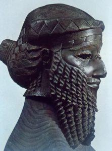 Tête en bronze découverte à Ninive en 1931, attribuée à Sargon d'Akkad