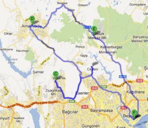 Carte du trajet